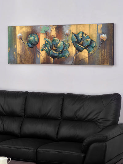 Flower Emboss Painting (Emerald)
