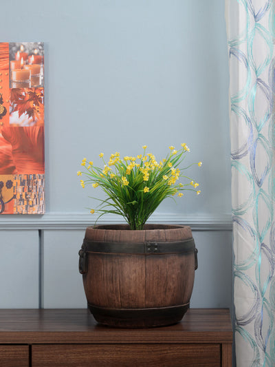 Barrel Shaped Planter (Brown)