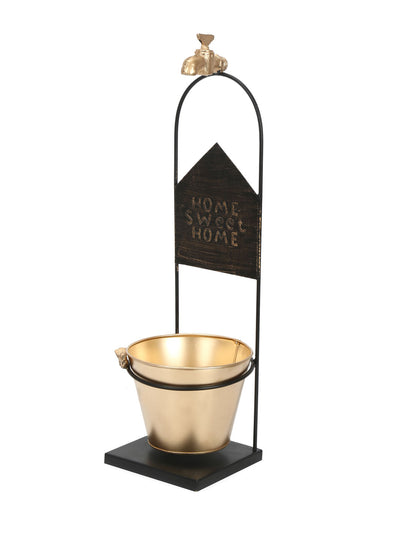 WaterTap Planter (Black & Gold)
