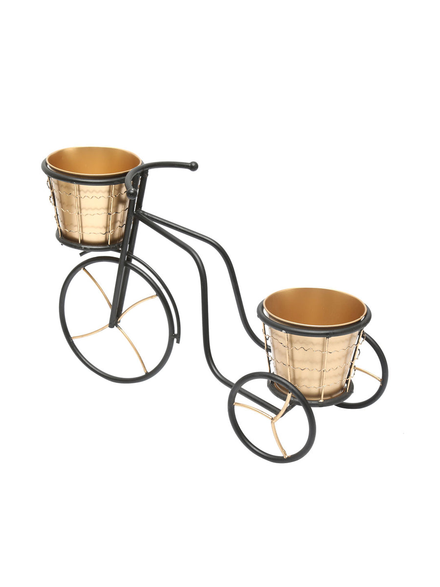 MiniCycle Planter (Black & Gold)