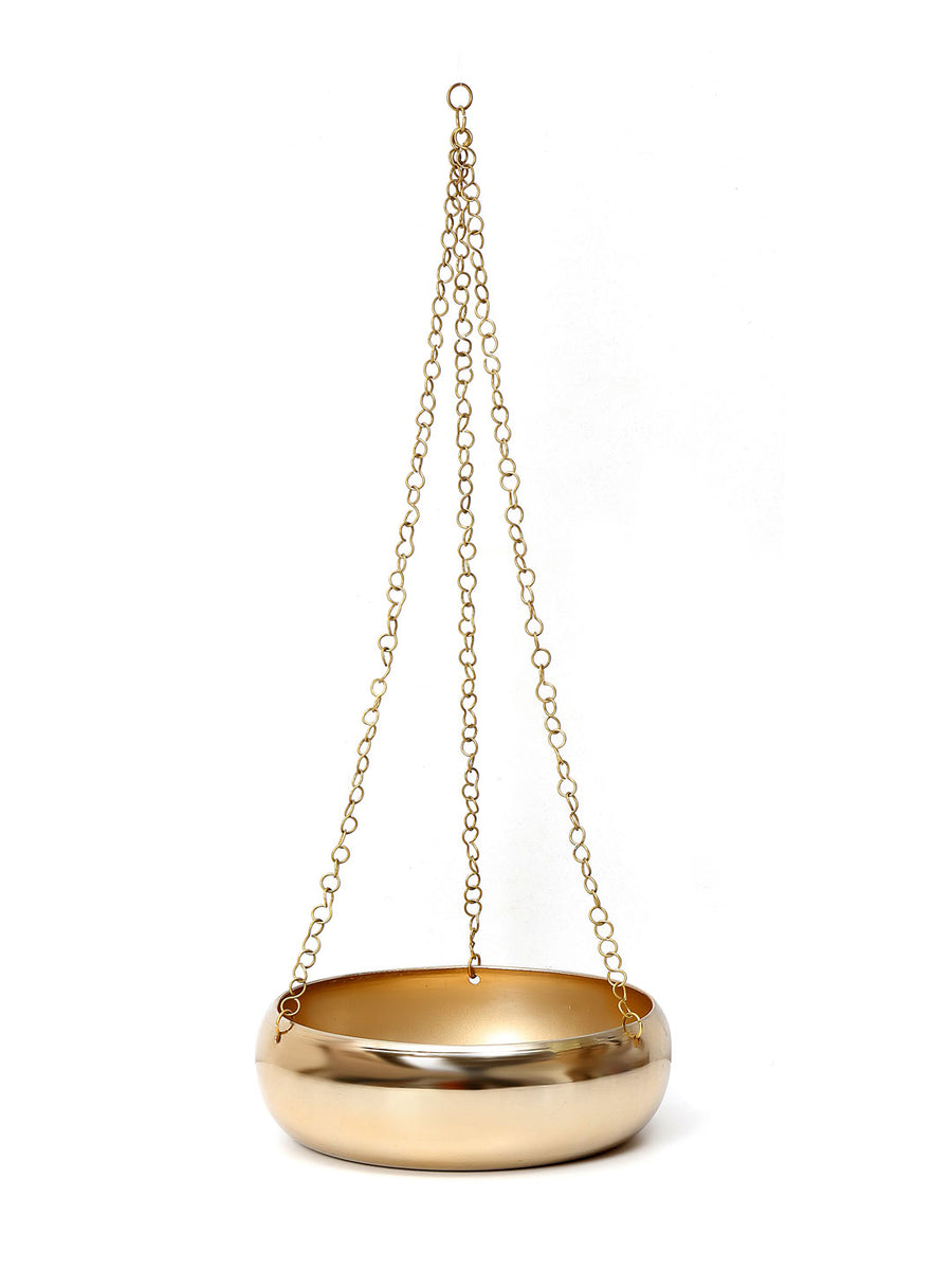 Hanging Urli Planter (Gold)