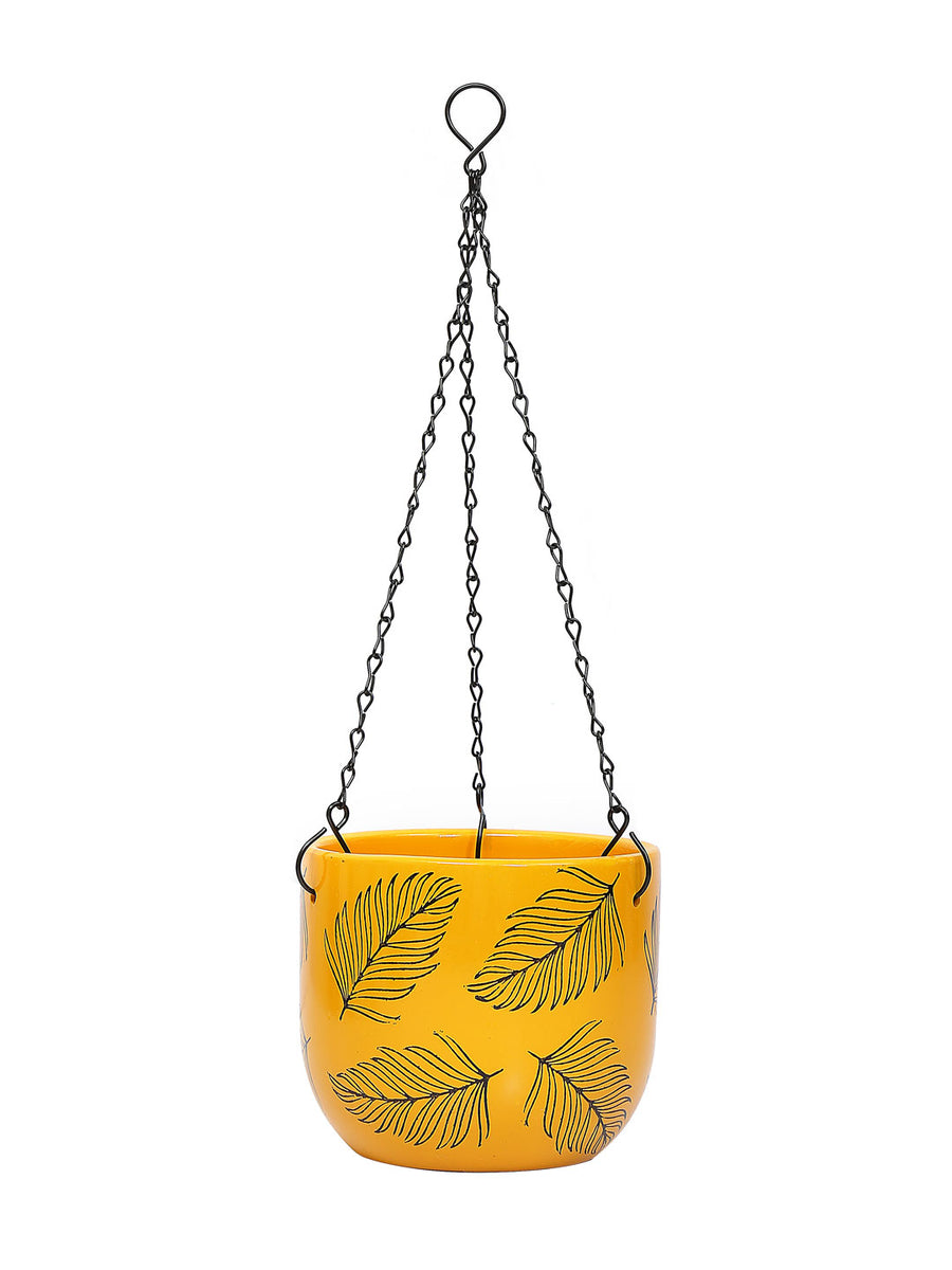 Caddy with Chain Planter (Yellow)