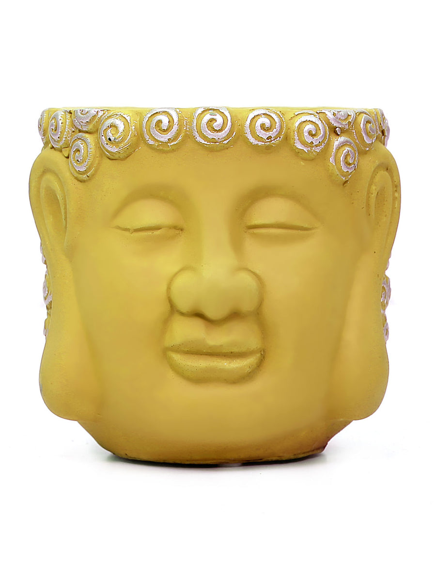 Buddha Face Planter (Yellow)
