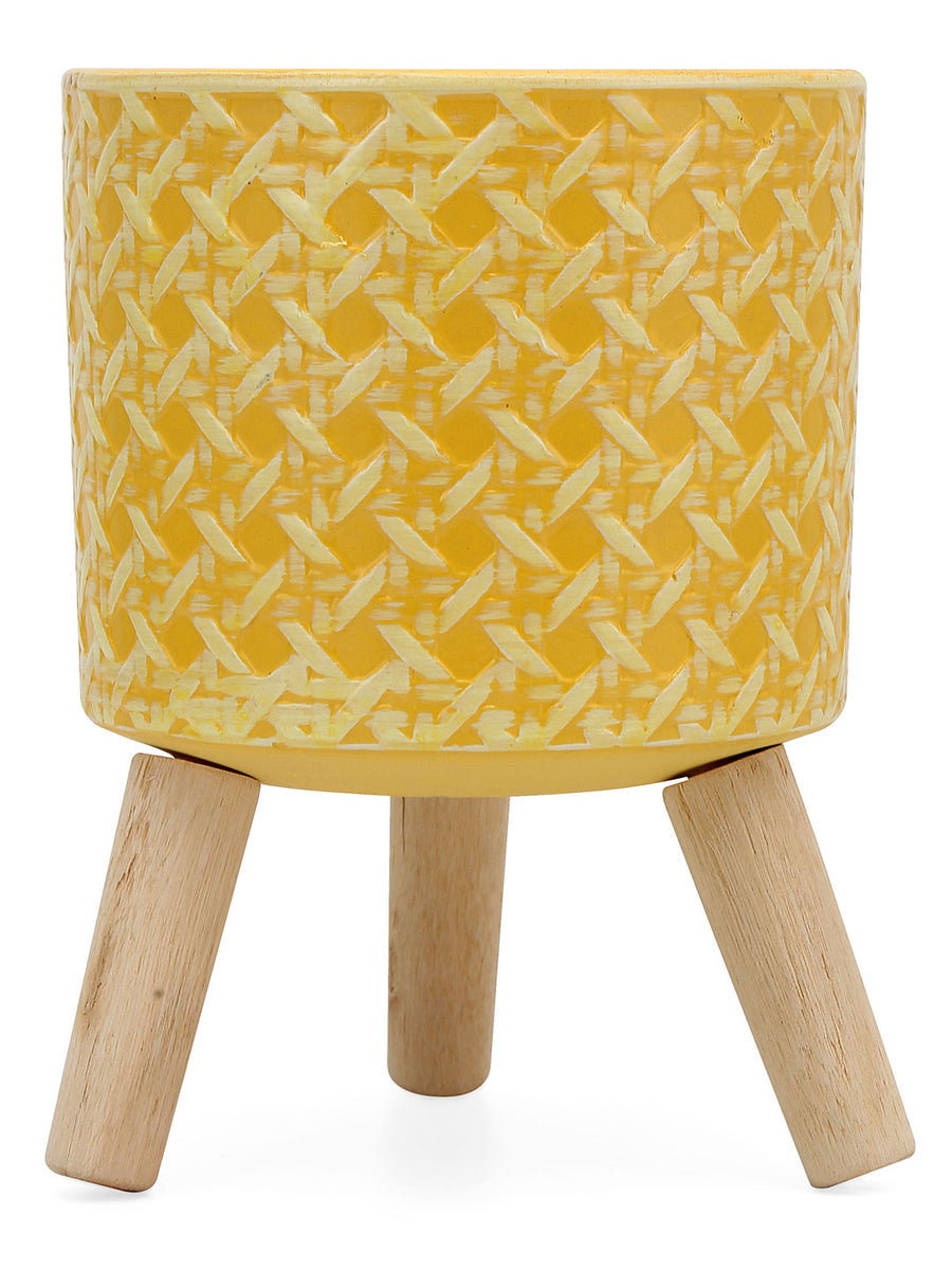 Nova Planter with Leg (Yellow)