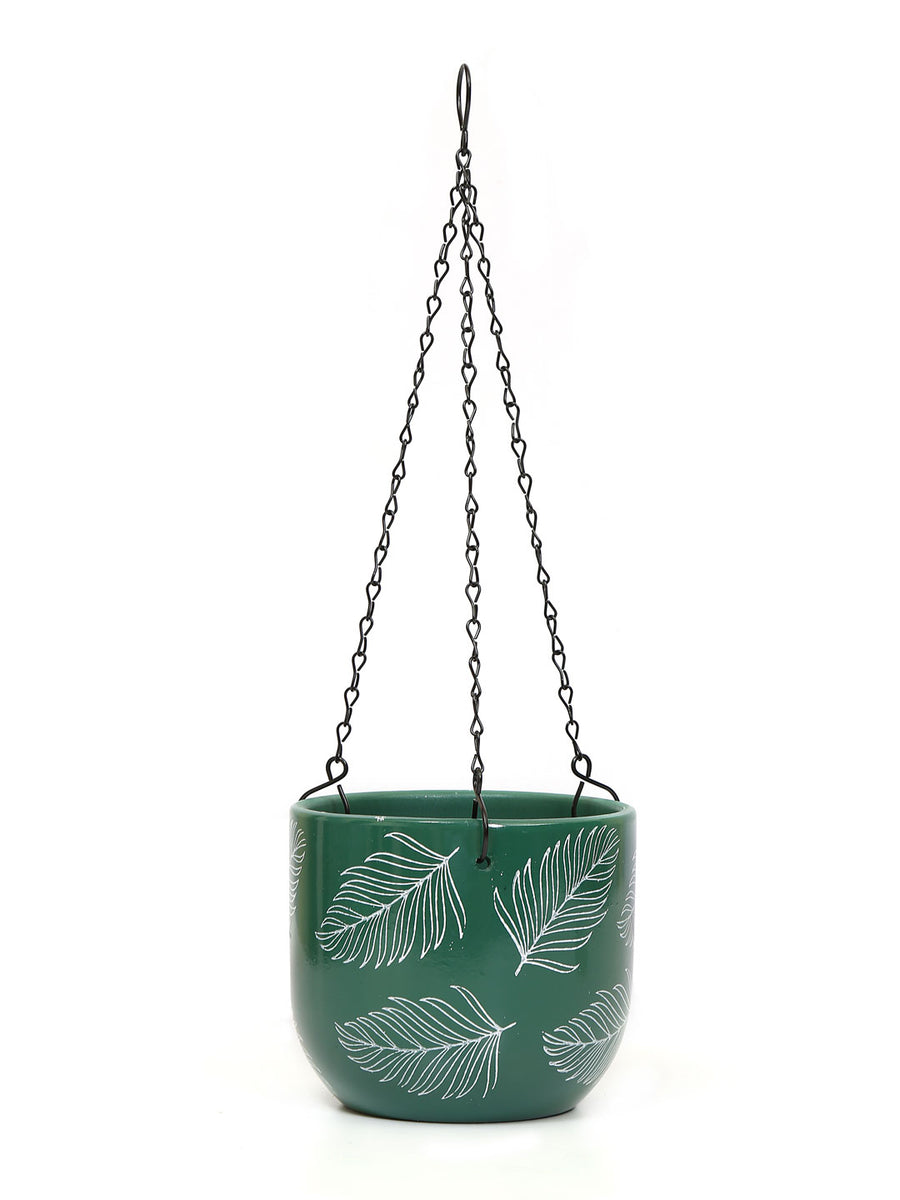 Caddy with Chain Planter (Sea Green)