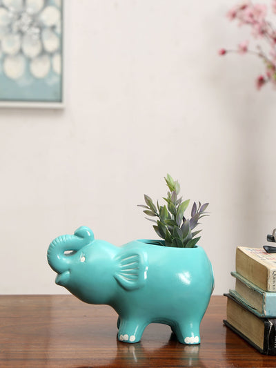 Elephant Planter (Blue)