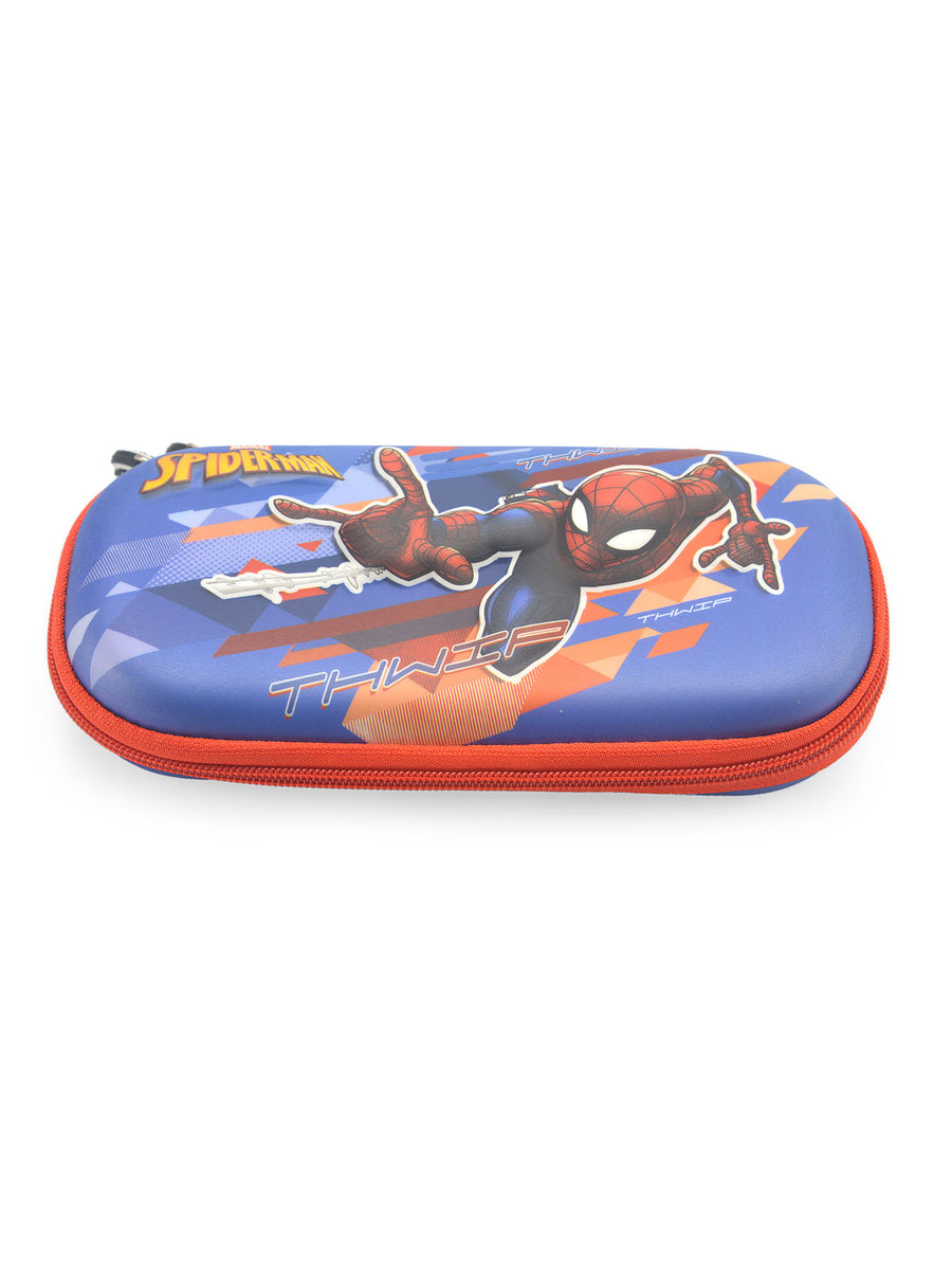 Spiderman Hard Pencil Bag (Multicolor)