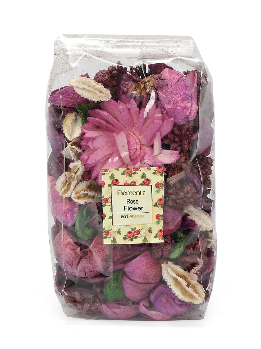 Rose Flower Potpourrie Pouch (Purple)