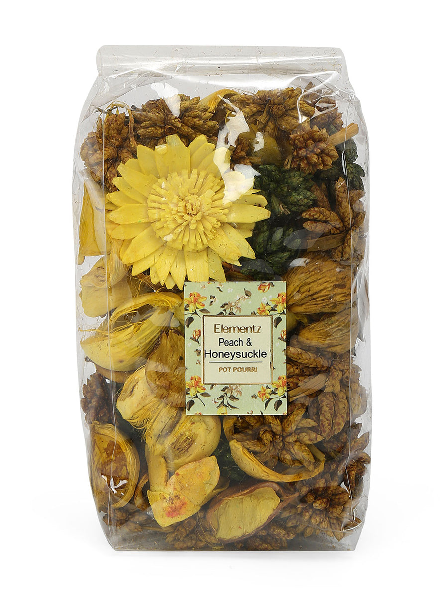 Peach & Honeysuckle Potpourrie Pouch (Yellow)