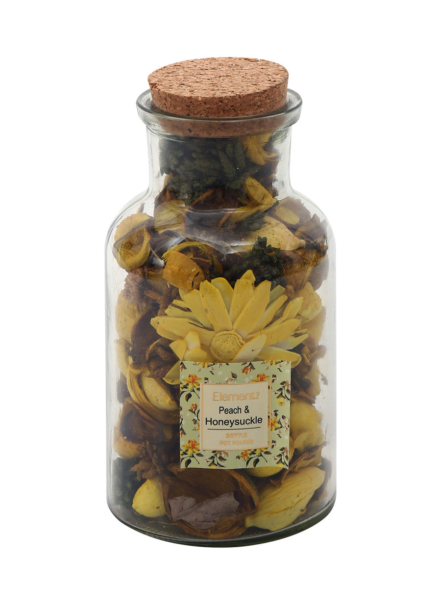Poetic Honeysuckle Potpourrie Bottle (Mustard)