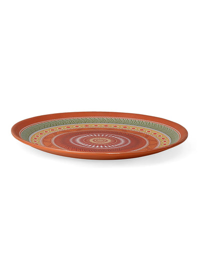 Tribal Persian Round Dining Plate 28Cm (Brown)