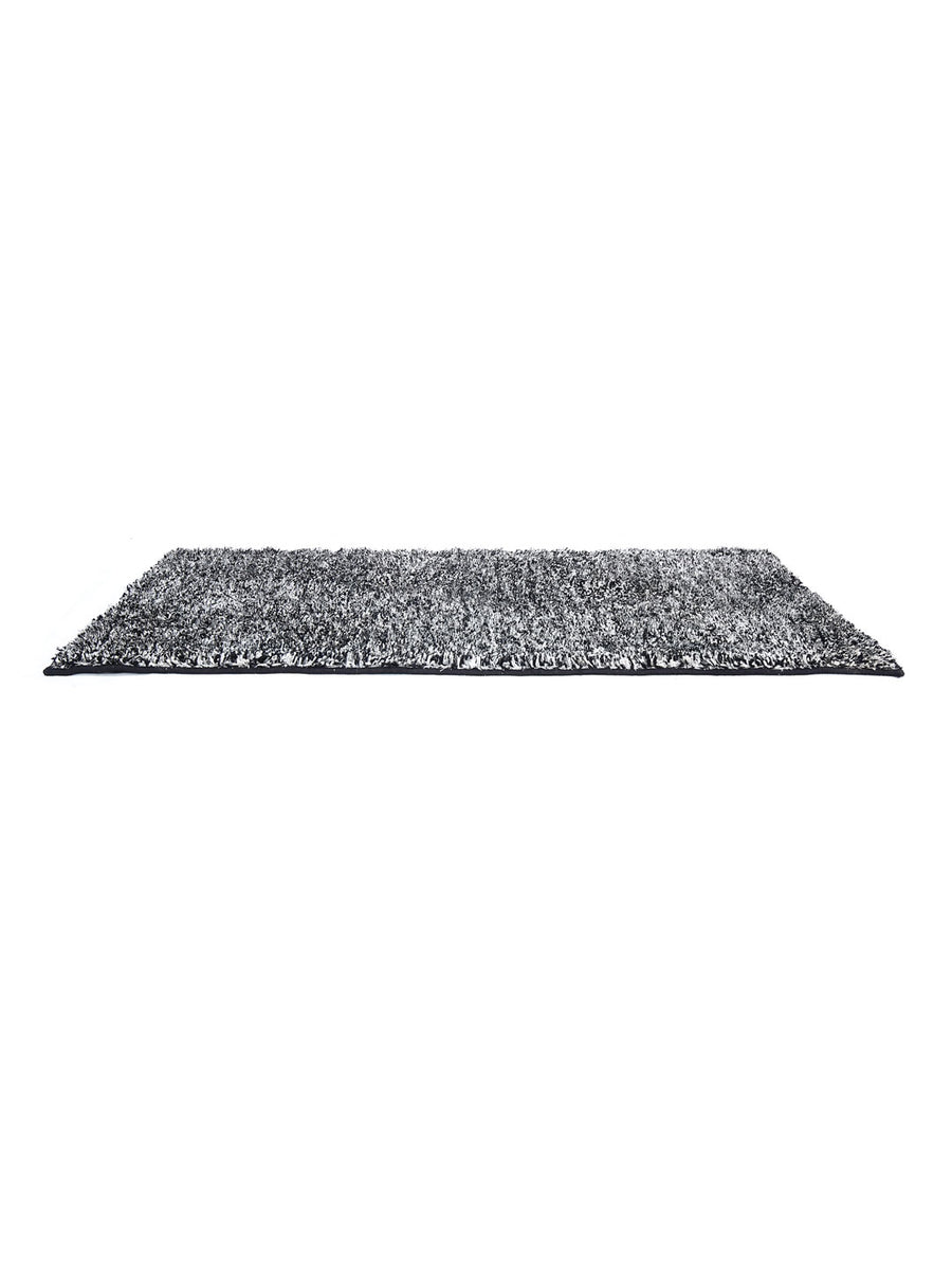 Shaggy Lurex Rug (Black)