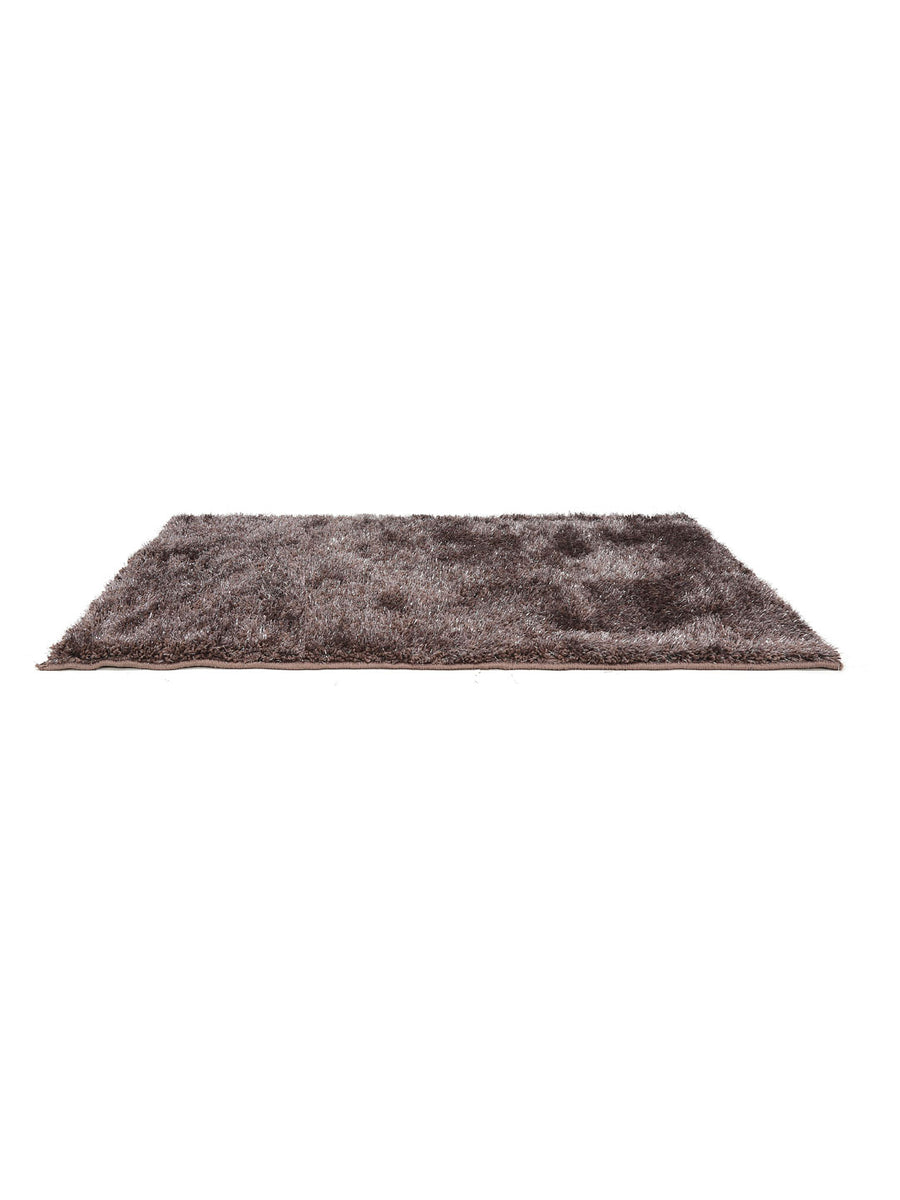 Shaggy Lurex Rug (Brown)