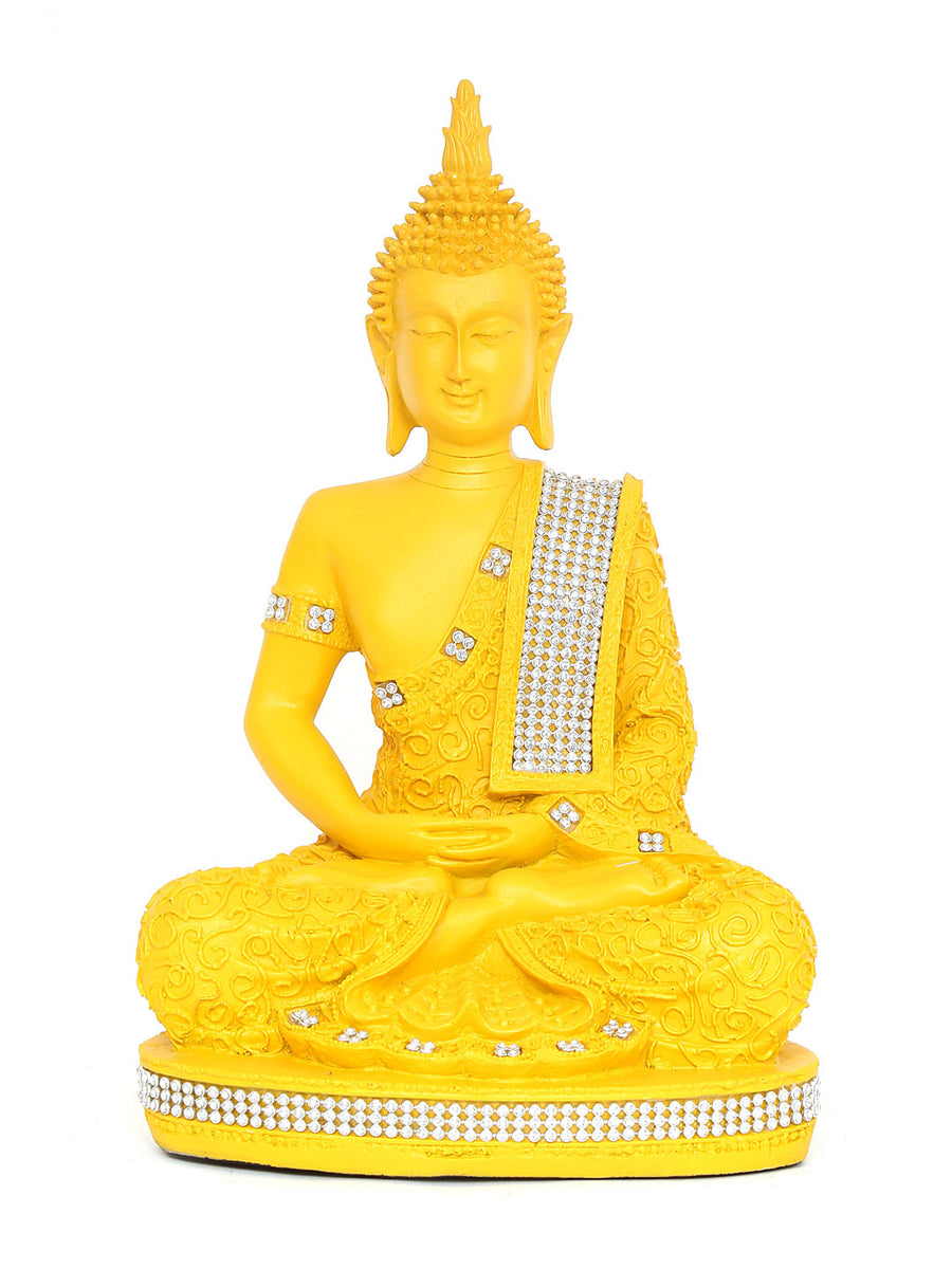 Mustard Buddha Dhyana Showpiece (Yellow)