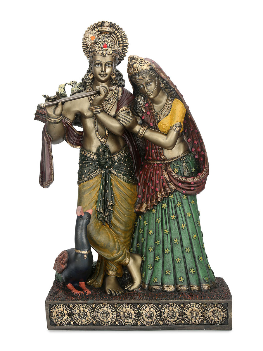 Radha Krishna Couple Showpiece (Yellow)