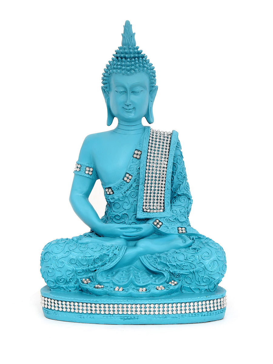 Sea Green Buddha Dhyana Showpiece (Blue)