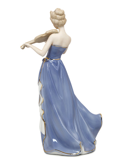 Lady Playing Violin Showpiece (Blue)
