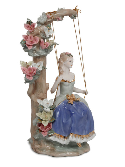 Lady On Swing Showpiece (Blue)