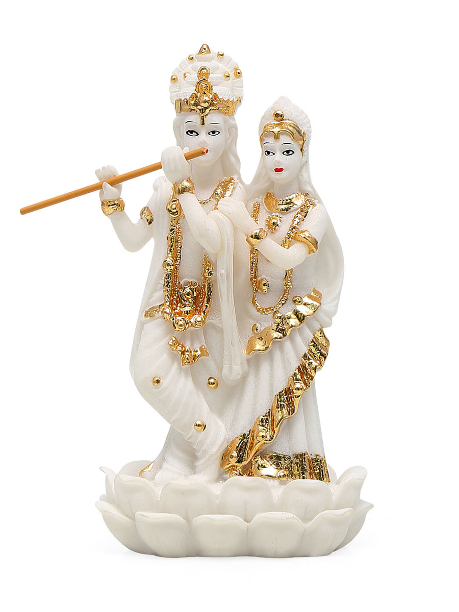 Radha Krishna Showpiece (White)