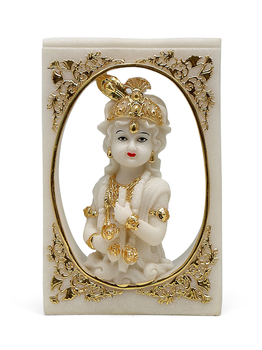 Bal Gopala in Window Showpiece (White)