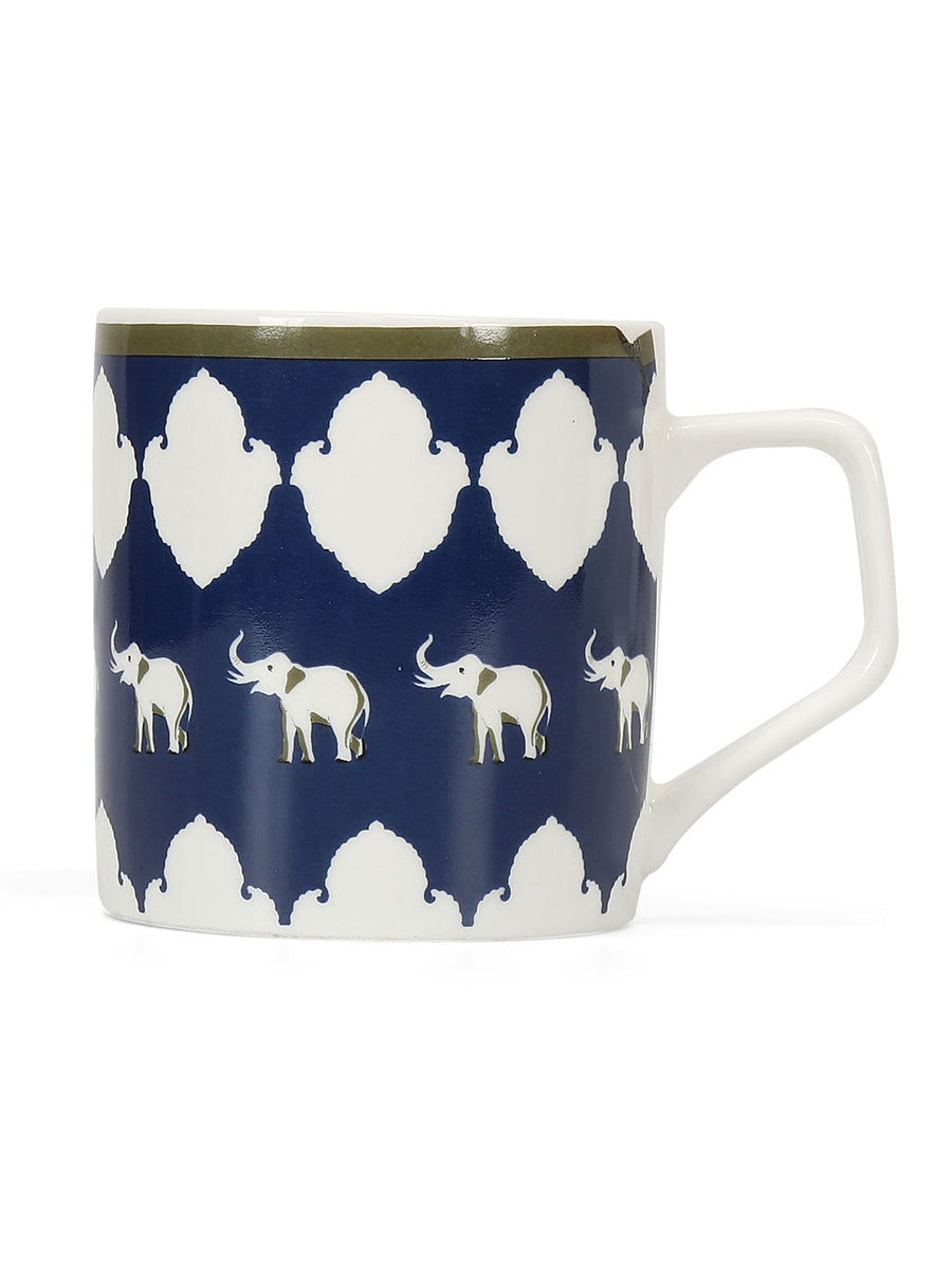 Ivory 210 ml Coffee Mug Set of 6 (Blue)
