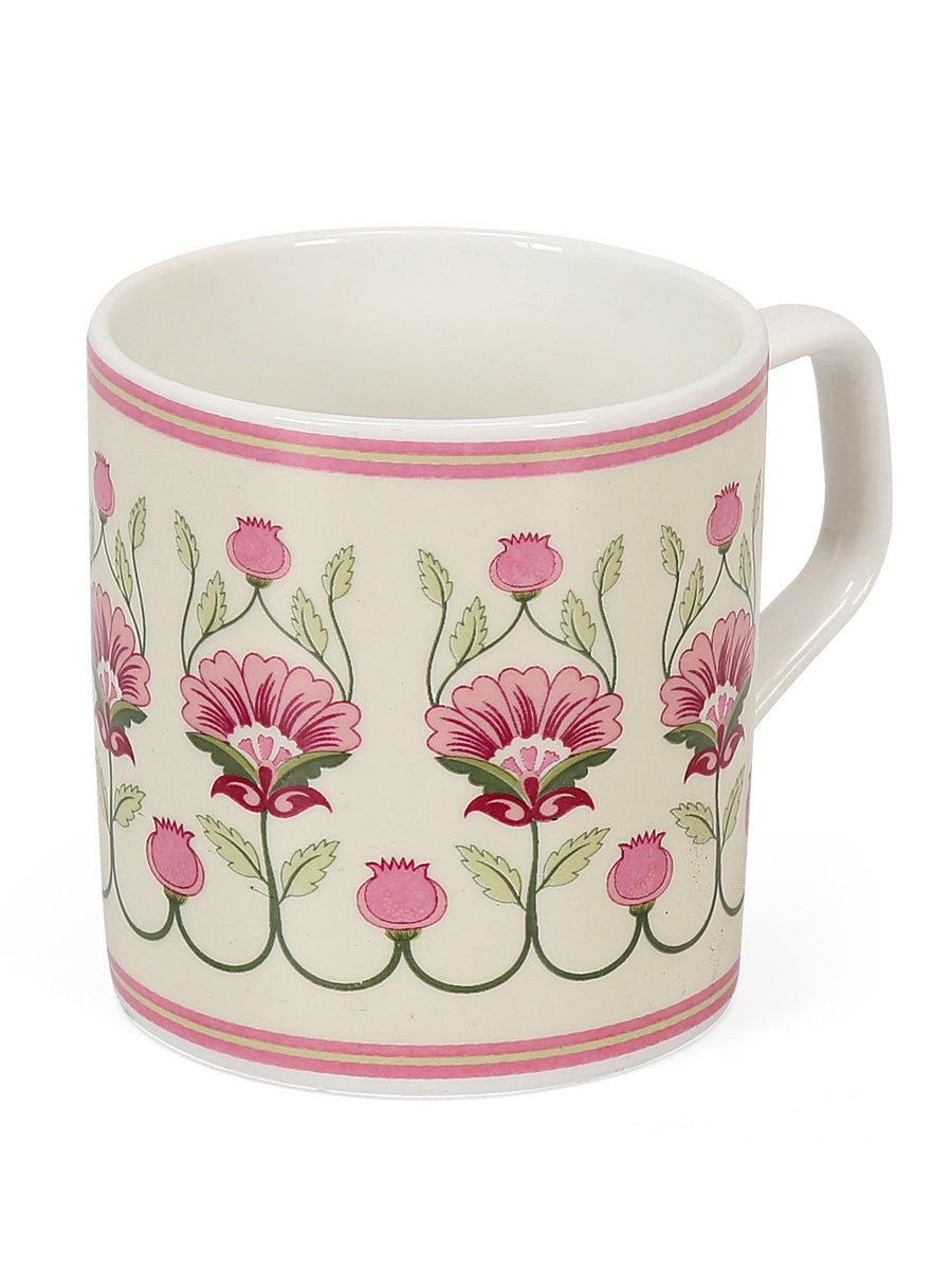 Hibiscus 210 ml Coffee Mug Set of 6 (Pink)