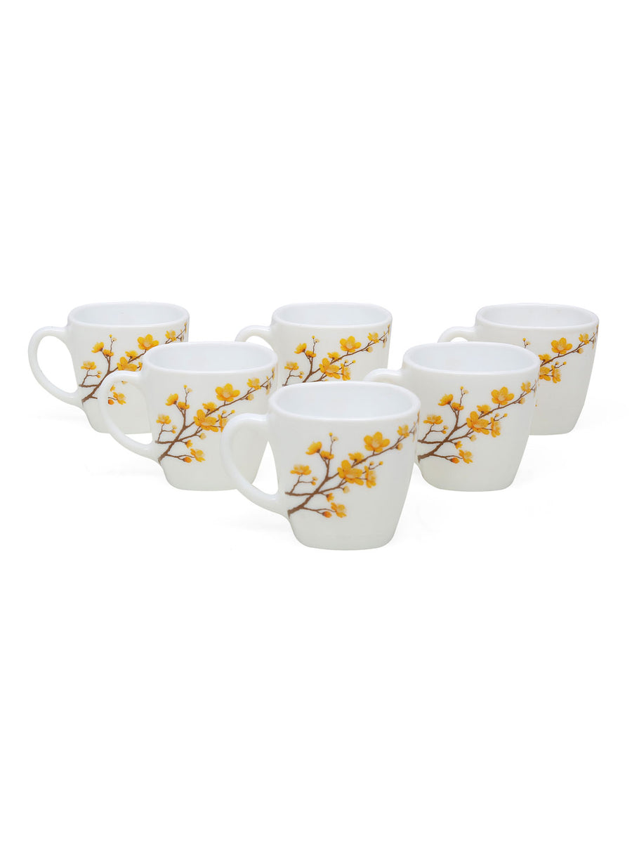 Laopala Summertide 125 ml Coffee Cup Set of 6 (Multicolor)