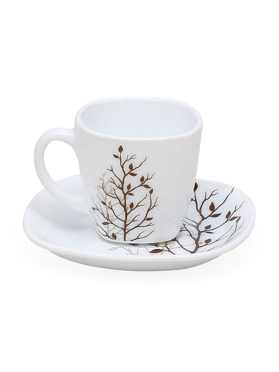Laopala Autumnal 125 ml Cup & Saucer Set of 12 (Multicolor)