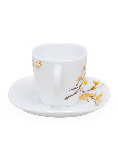 Laopala Summertide 125 ml Cup & Saucer Set of 12 (Multicolor)