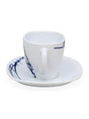 Laopala Belladona 125 ml Cup & Saucer Set of 12 (Multicolor)