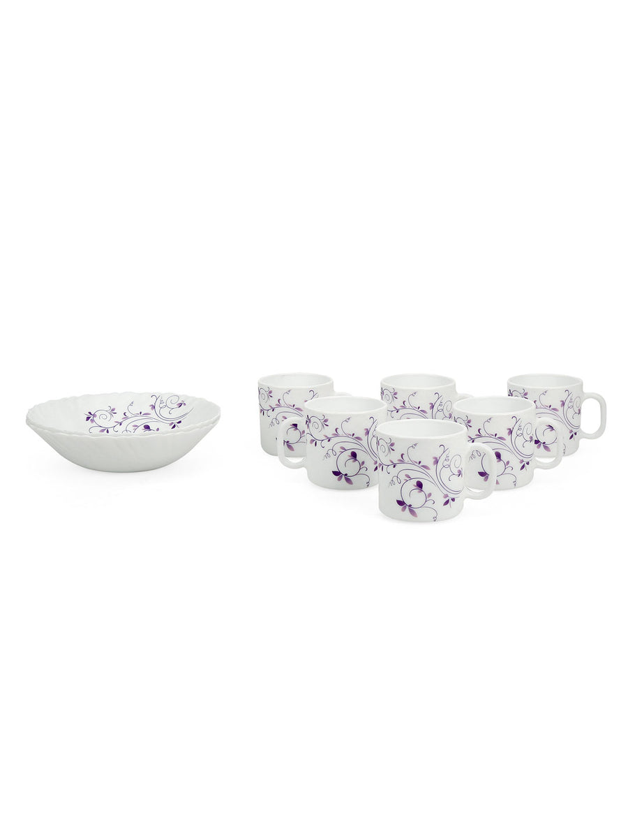 Calssique Dazzle Coffee Cups 8 Pieces (Purple)
