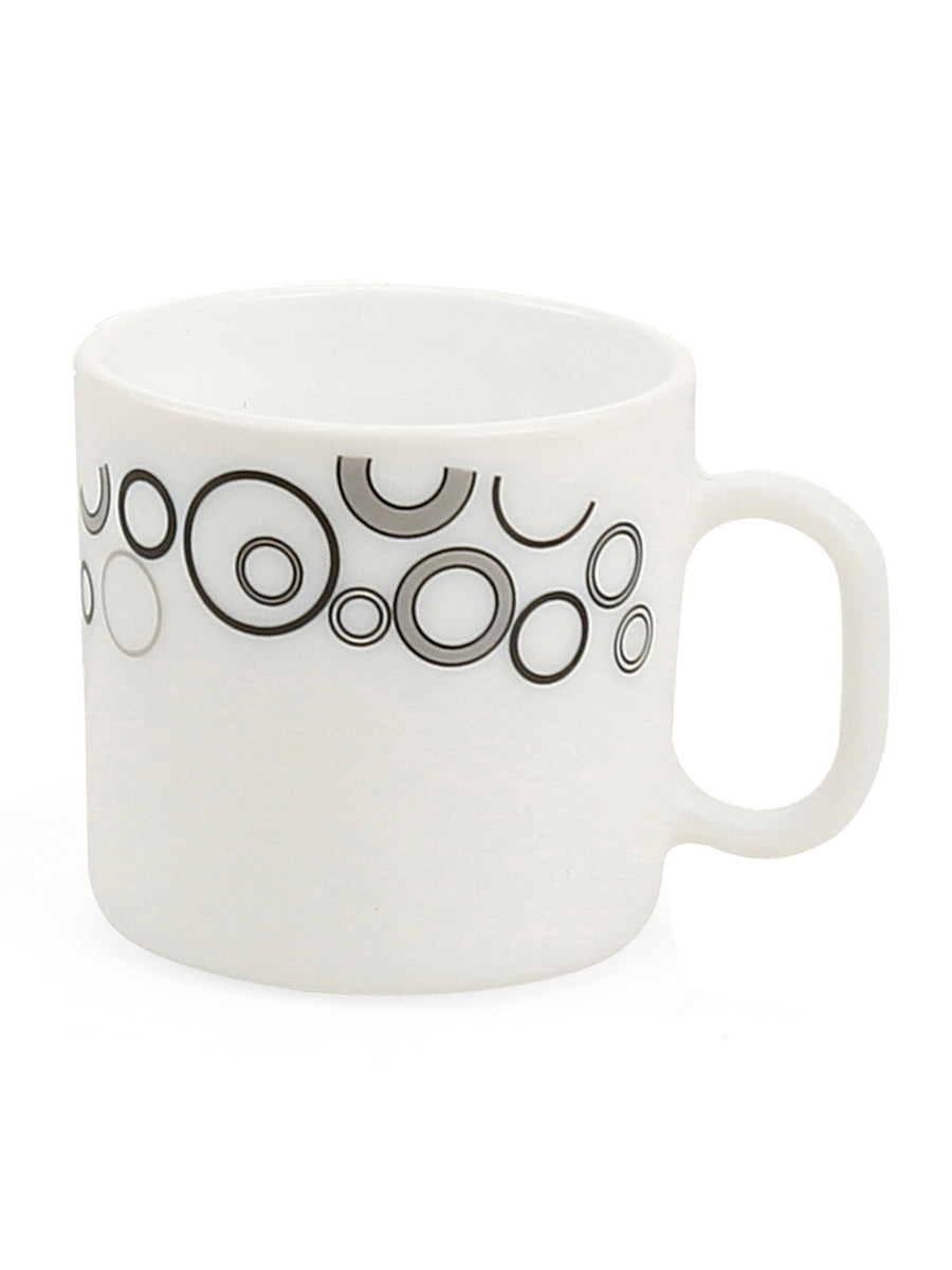 Calssique Misty Coffee Cups 8 Pieces (White)