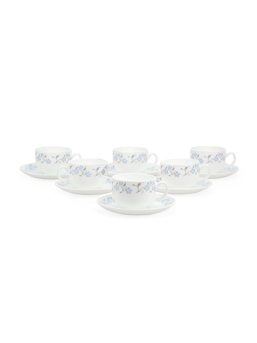 Glace 160 ml Cup & Saucer Set of 12 (White)