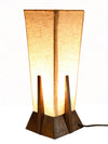 Venus Mango Wood Table Lamp without Bulb (Beige & Brown)