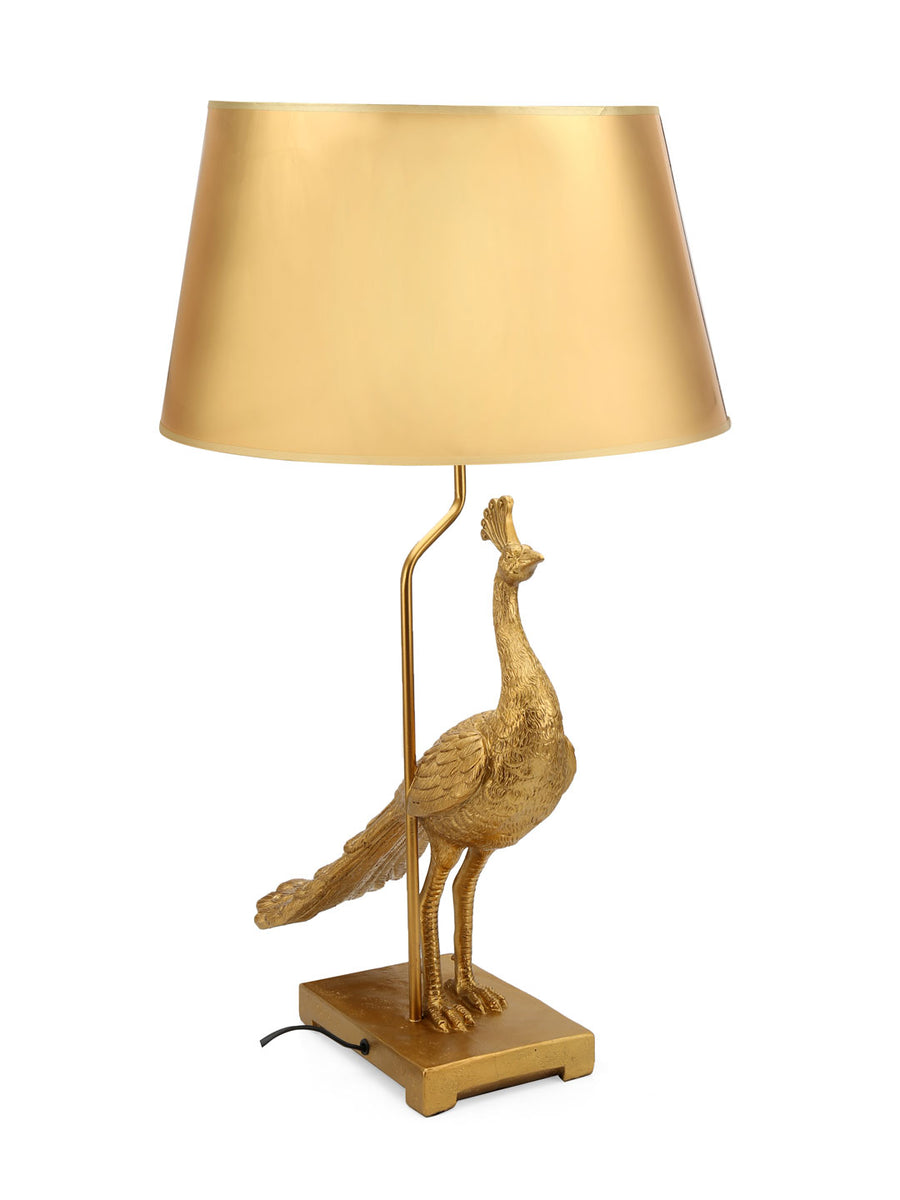 Peacock Table Lamp (Gold)