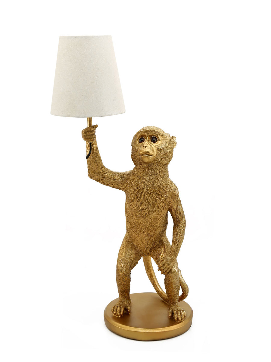 Monkey Table Lamp (Black & Gold)
