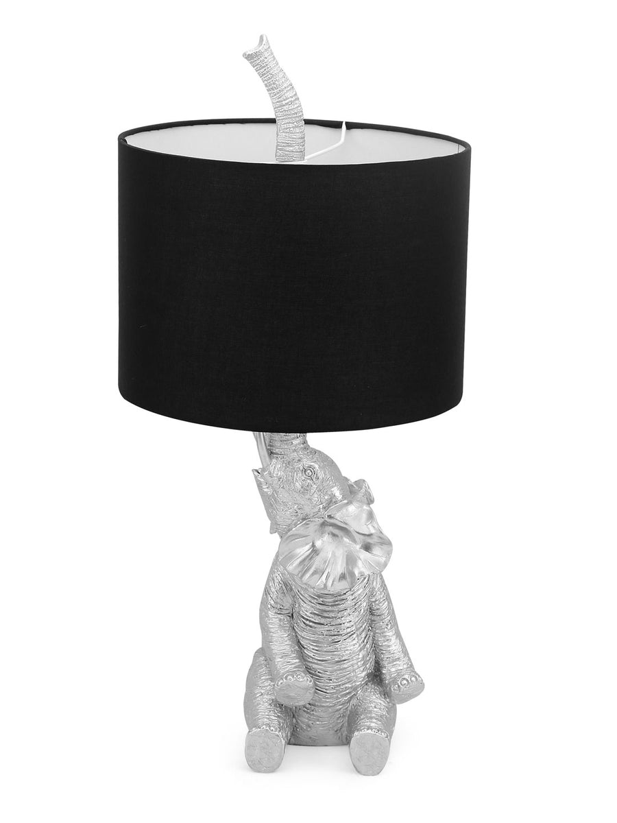 Elephant Table Lamp (Black & Silver)