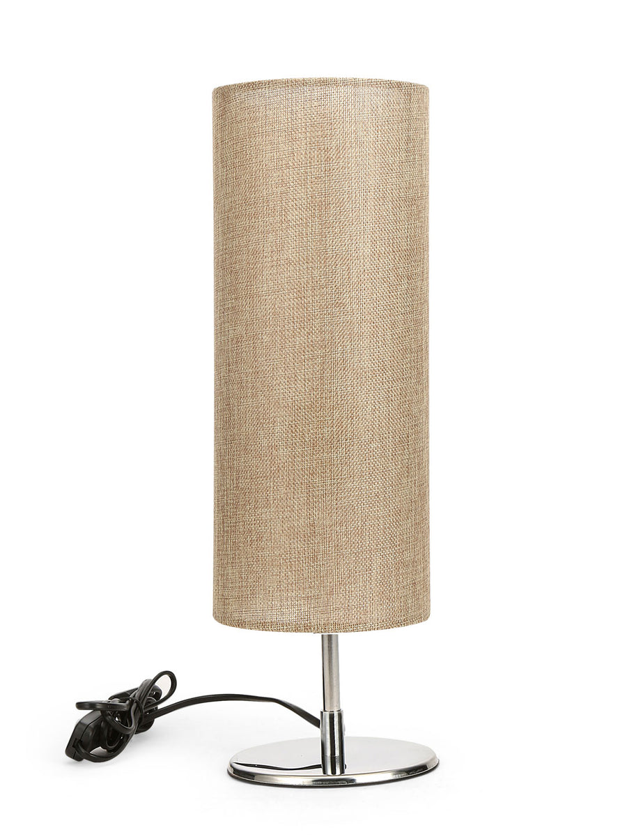 Cylindric Plain Table Lamp (Cream)
