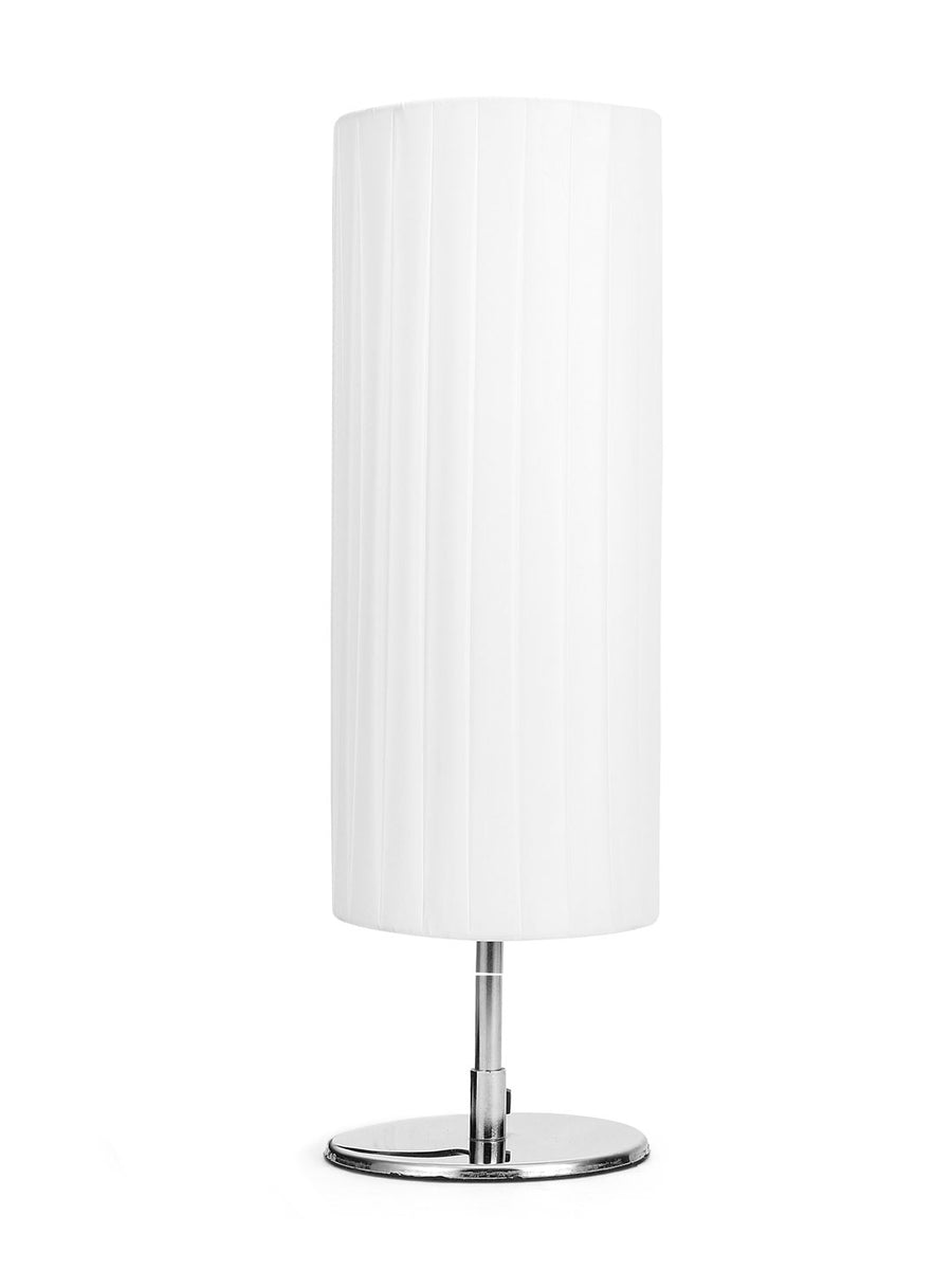 Cylindric Frill Table Lamp (White)