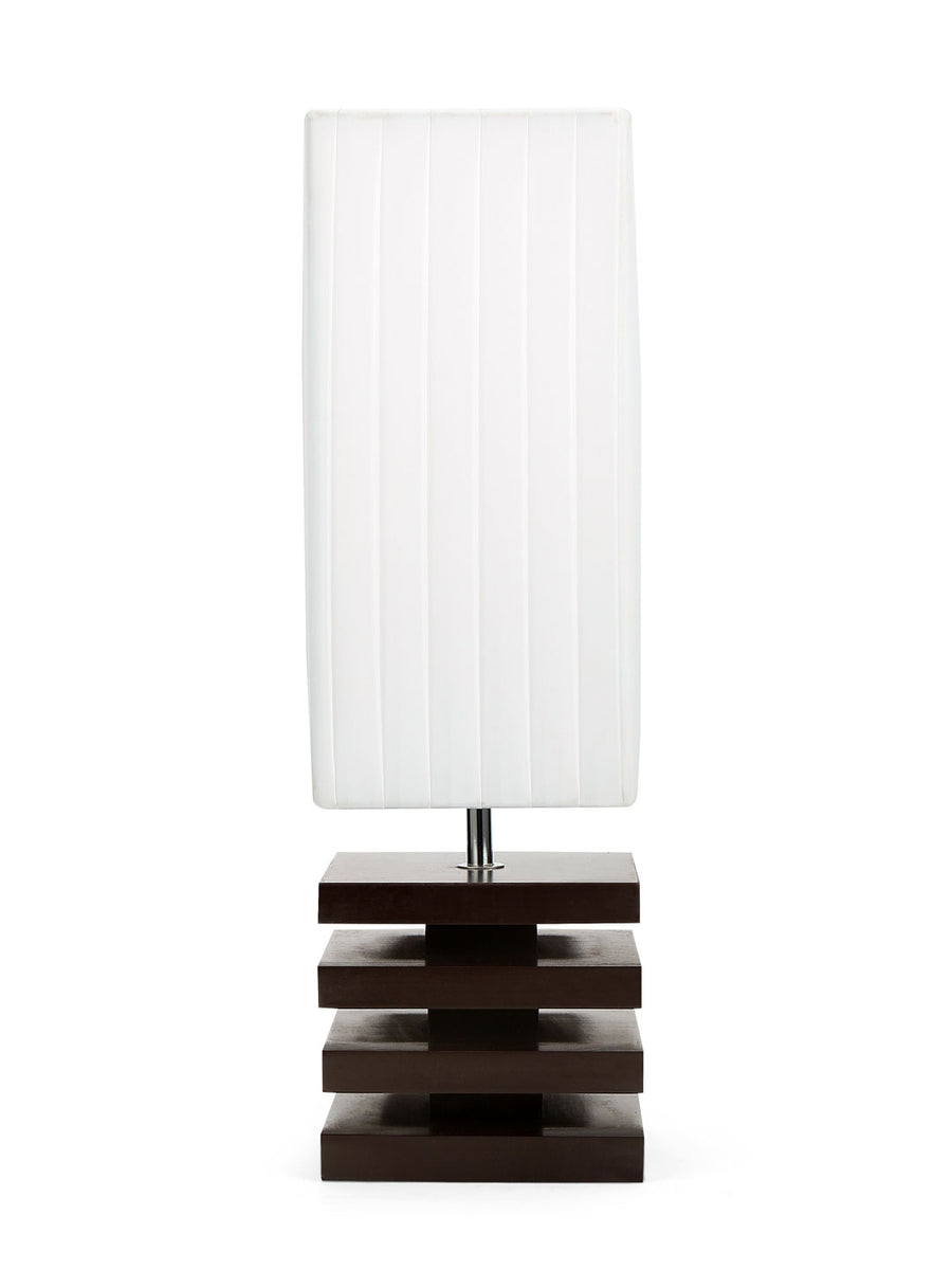 Trapeze Frill Table Lamp (White)