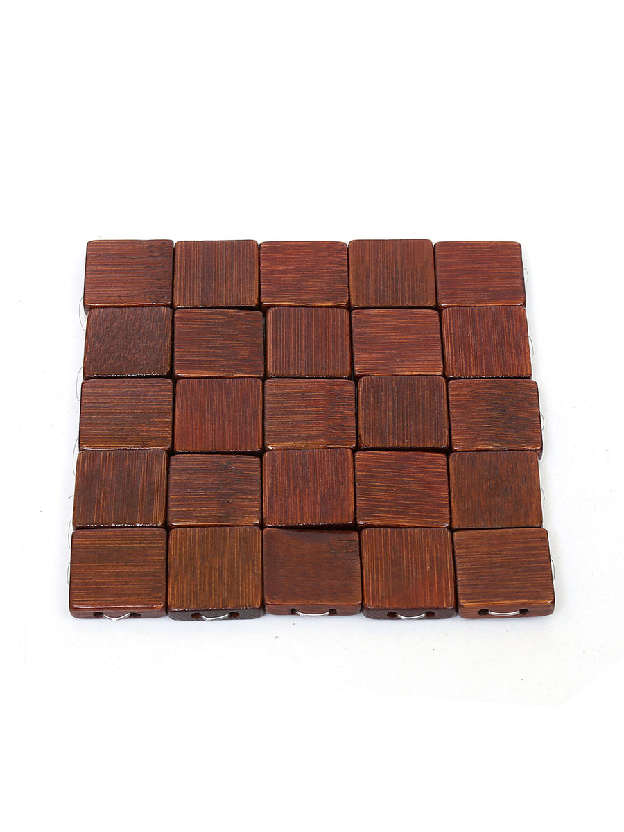 Scale Check Coasters 6 Pieces (Brown)