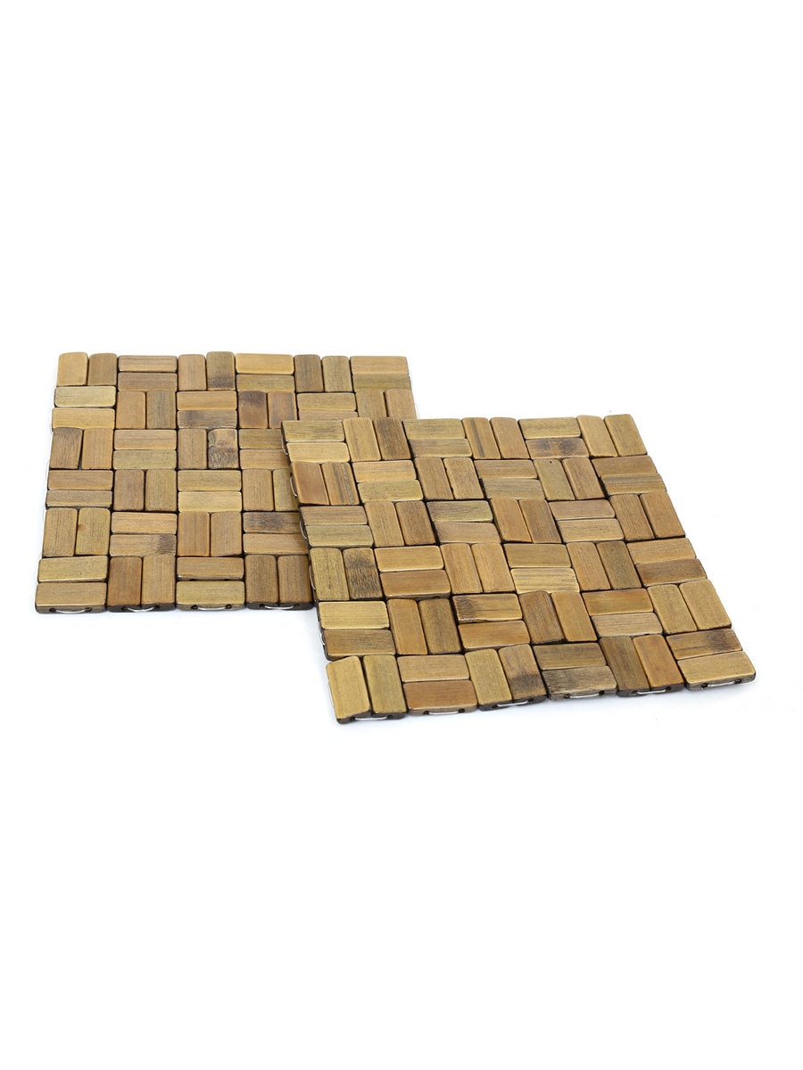 Scale Check Large Trivets Set of 2 (Brown)