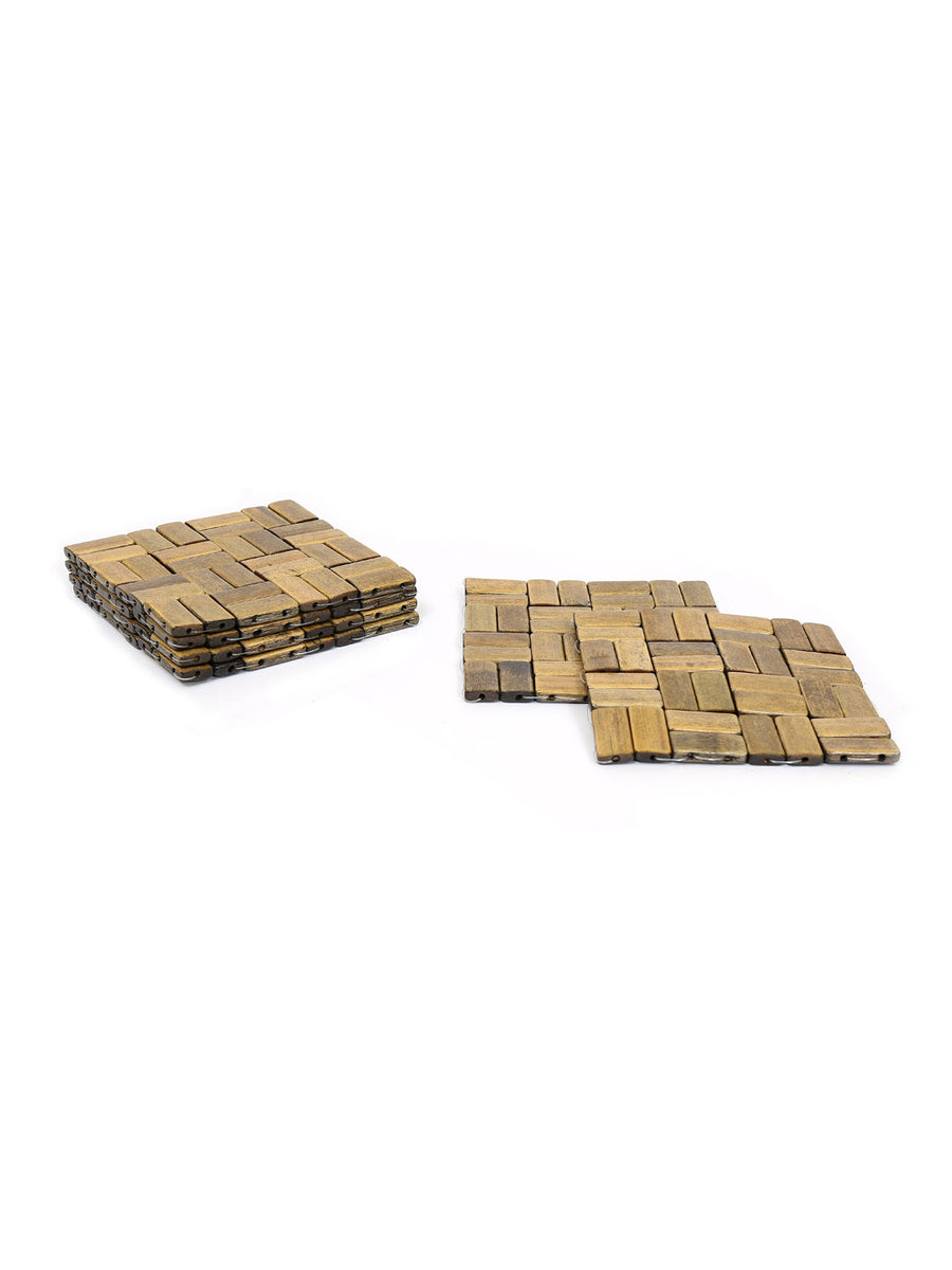 Scale Check Large Coasters 6 Pieces (Brown)