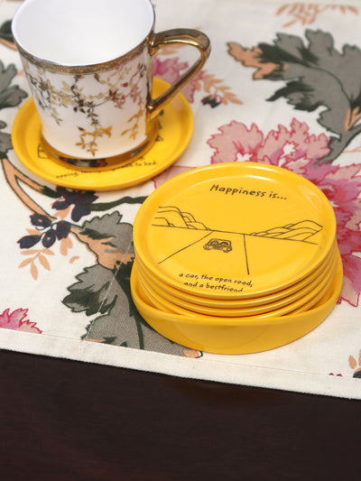 Happiness Coaster 6 Pieces (Yellow)