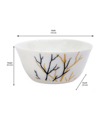 Laopala Golden Fall Veg Bowl Set Of 6 Piece (Ivory)