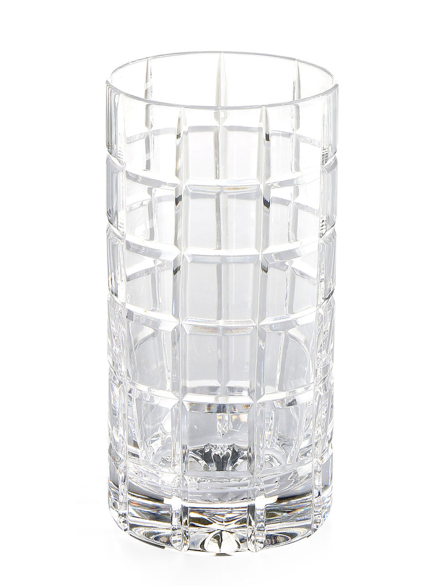 Cylinder Long 300 ml Square Tumbler 6 Pieces (Clear)