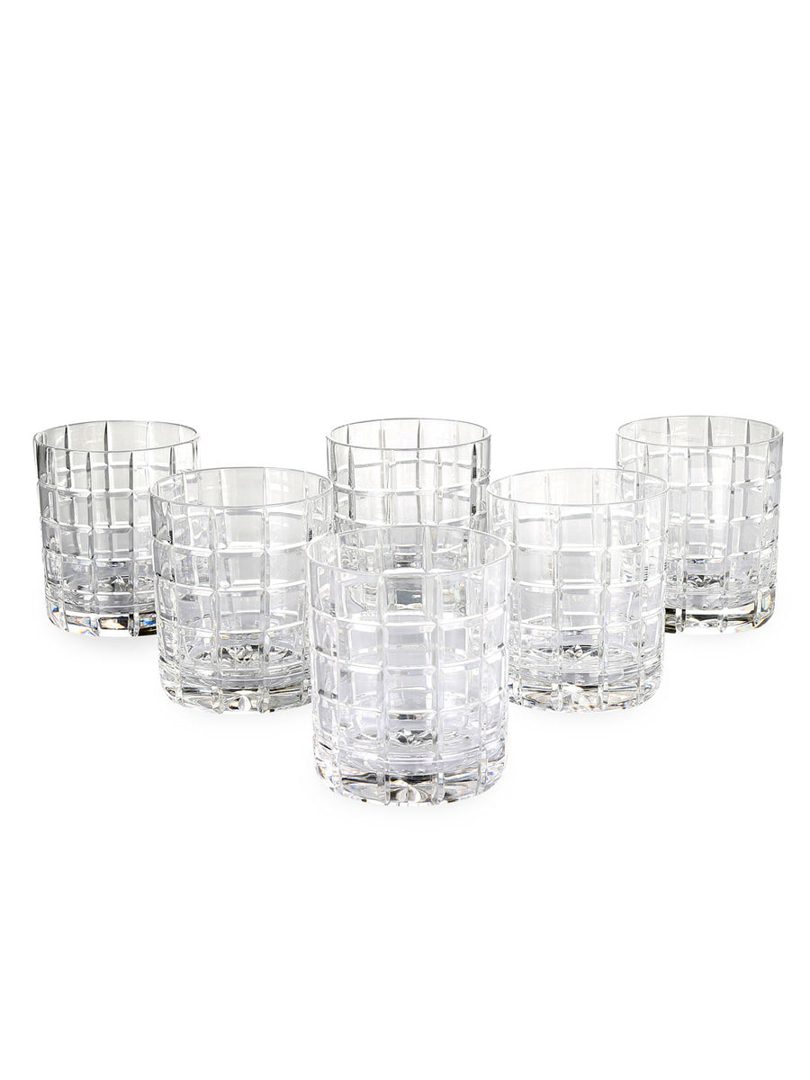 Cylinder 400 ml Whiskey Tumbler 6 Pieces (Clear)