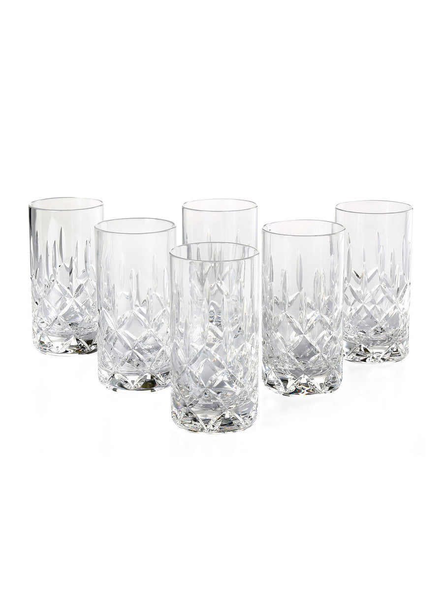 Cylinder Long 300 ml Tumbler 6 Pieces (Clear)