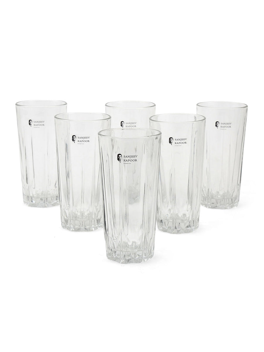 Monarch Karat Beer 300 ml Tumbler 6 Pieces (Clear)