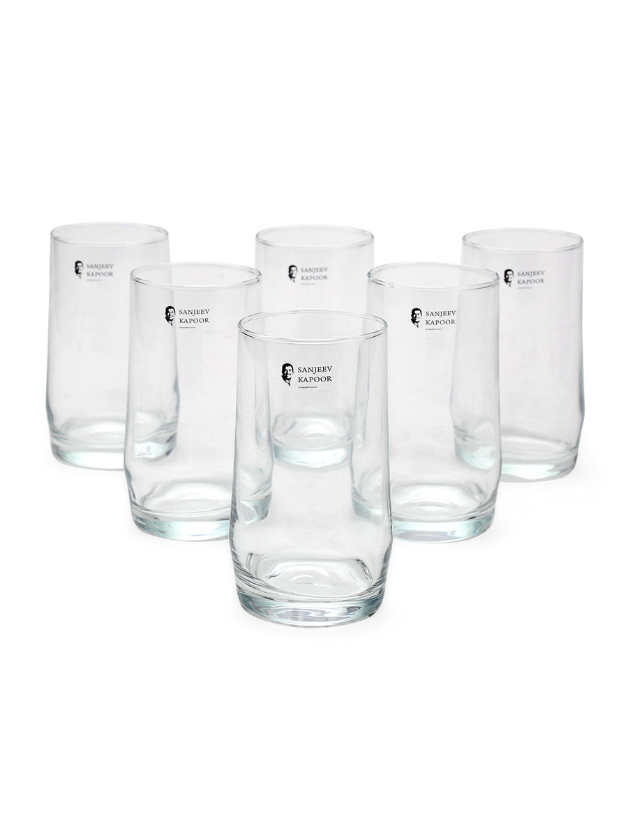 Scirio 400 ml Water Tumbler 6 Pieces (Clear)